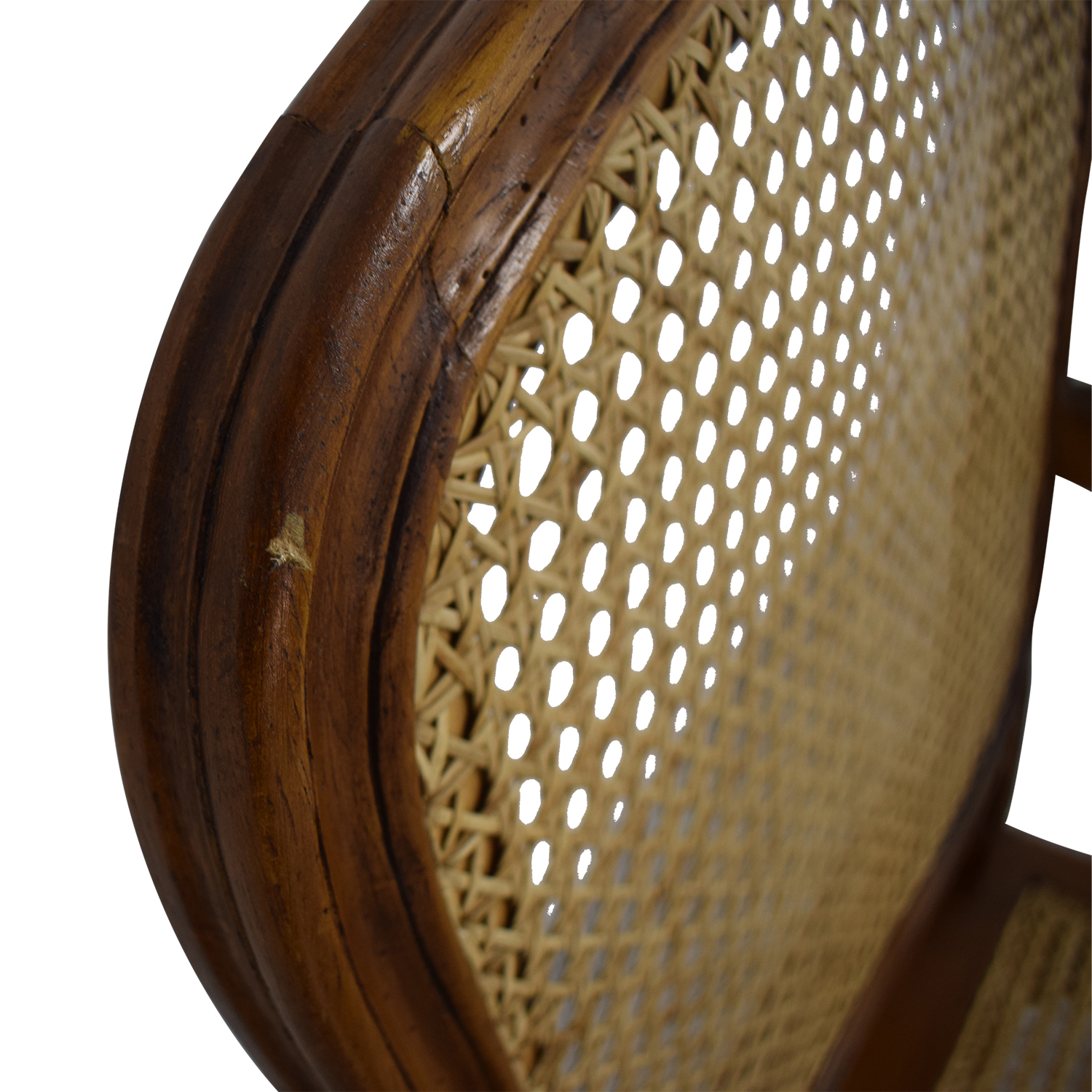 French Wood Cane Accent Chair used