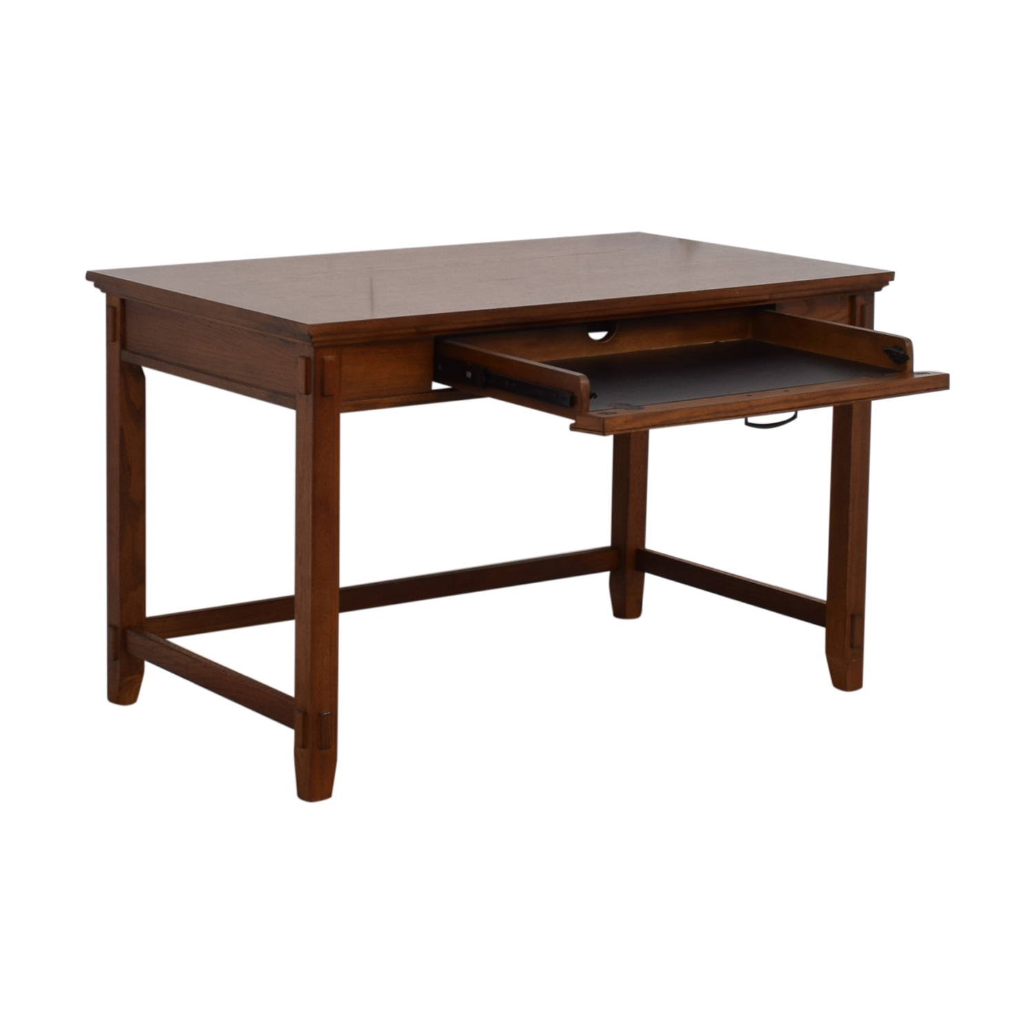 buy Pull Out Keyboard Tray Wood Desk  Home Office Desks