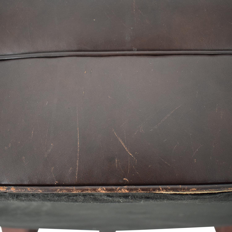 shop Crate & Barrel Crate & Barrel Brown Tufted Ottoman online