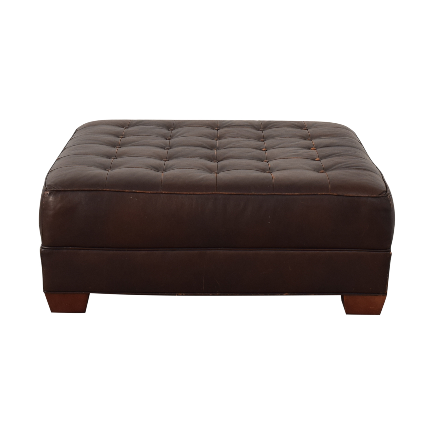 buy Crate & Barrel Crate & Barrel Brown Tufted Ottoman online