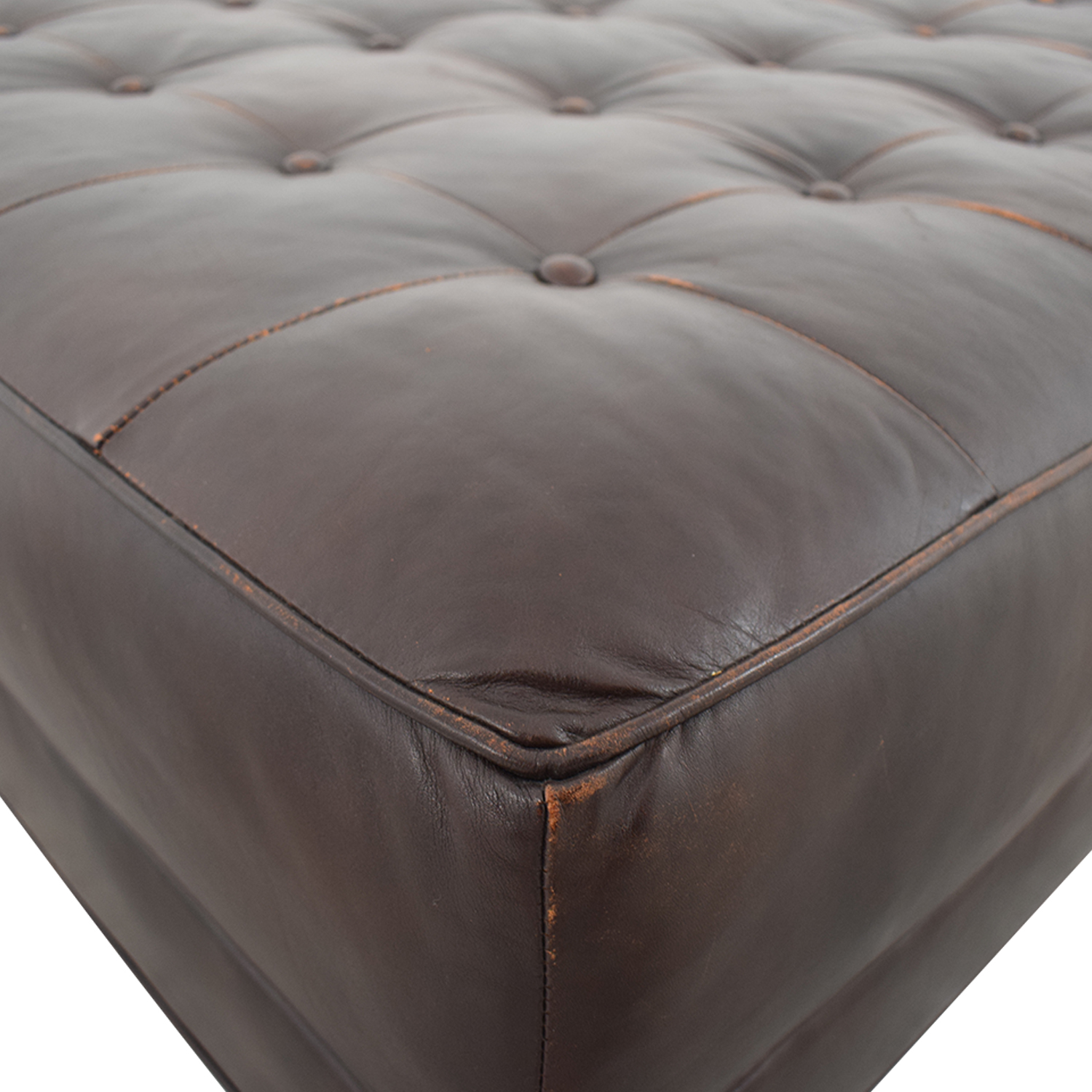 Crate & Barrel Crate & Barrel Brown Tufted Ottoman nyc