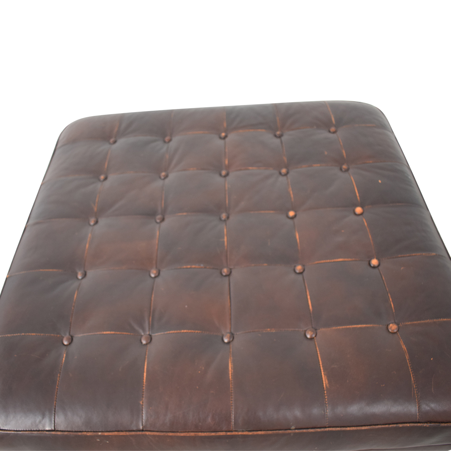Crate & Barrel Crate & Barrel Brown Tufted Ottoman coupon