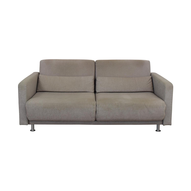 82% OFF - BoConcept BoConcept Melo Grey Sofa Queen Bed / Sofas