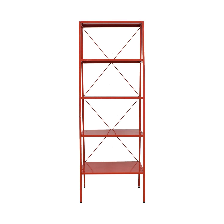 CB2 CB2 Red Hancock Bookcase on sale