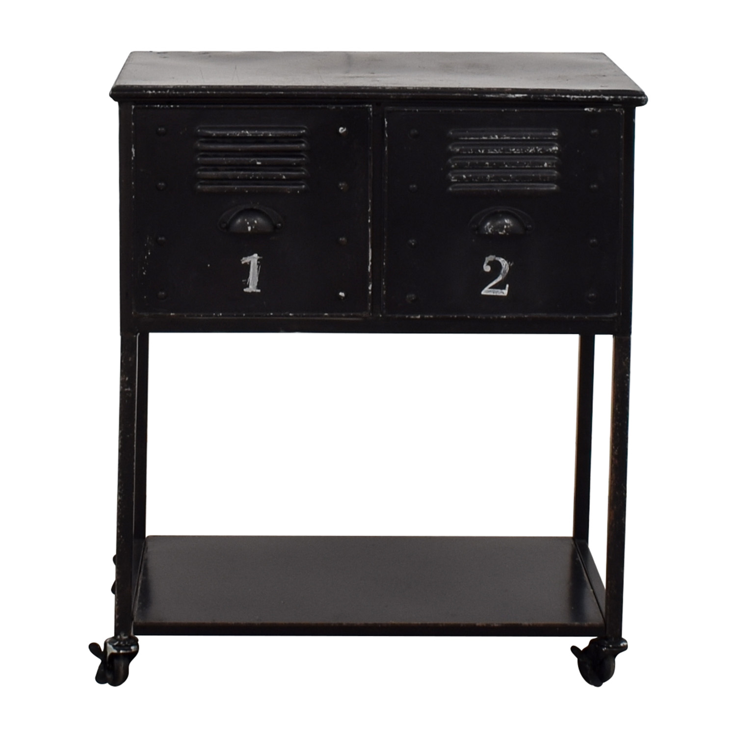 Industrial Metal Retro Locker Cabinet Accent Tables