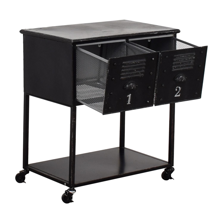 Industrial Metal Retro Locker Cabinet / Tables