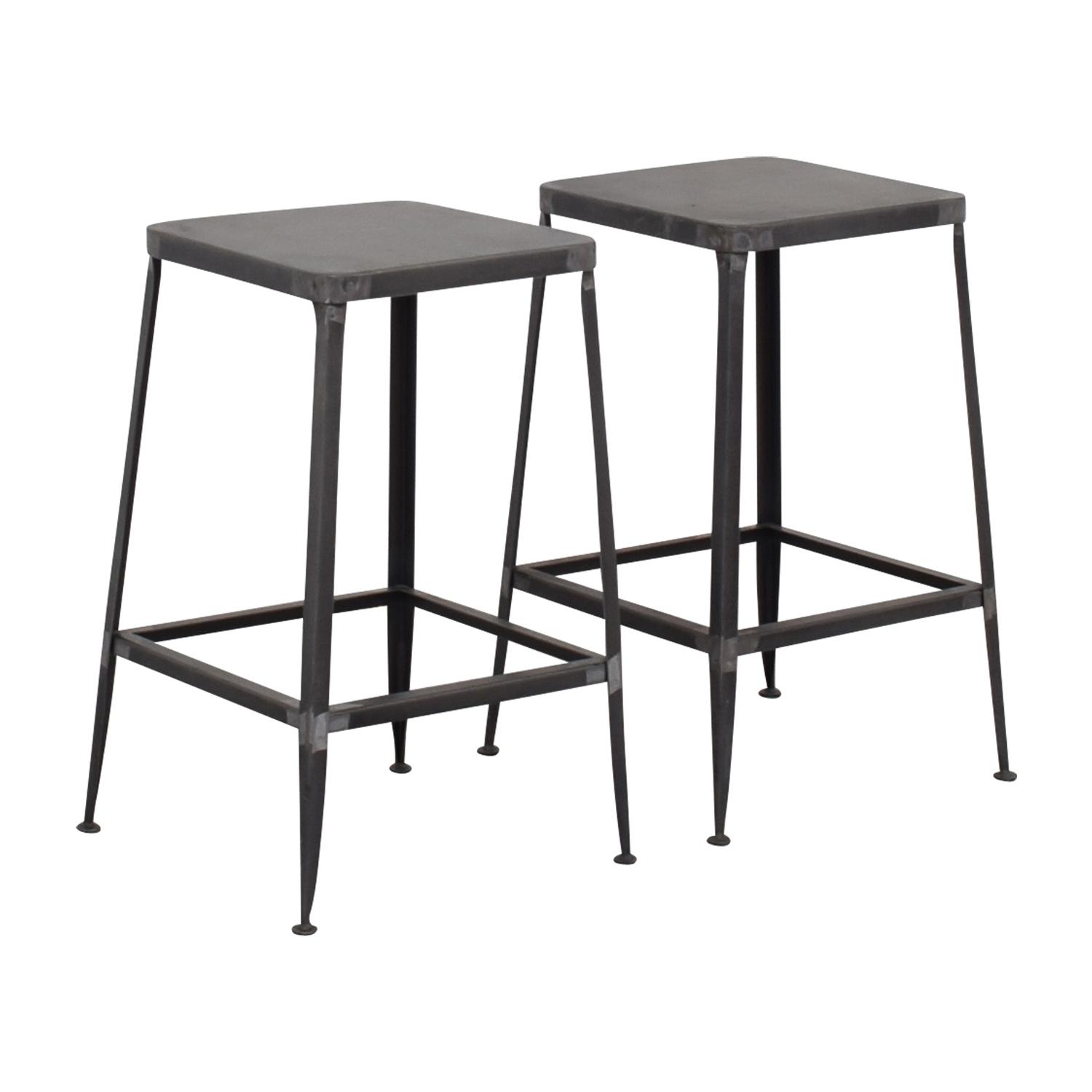 CB2 Flint Steel Counter Stools / Stools