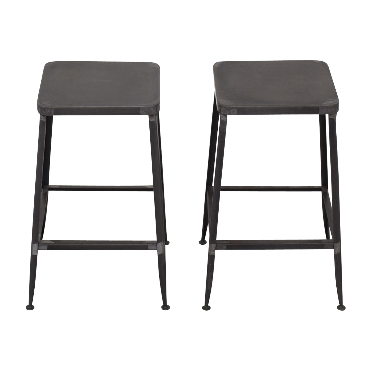 CB2 CB2 Flint Steel Counter Stools for sale
