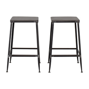 buy CB2 Flint Steel Counter Stools CB2 Chairs