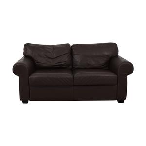 buy Ektorp Leather Loveseat IKEA