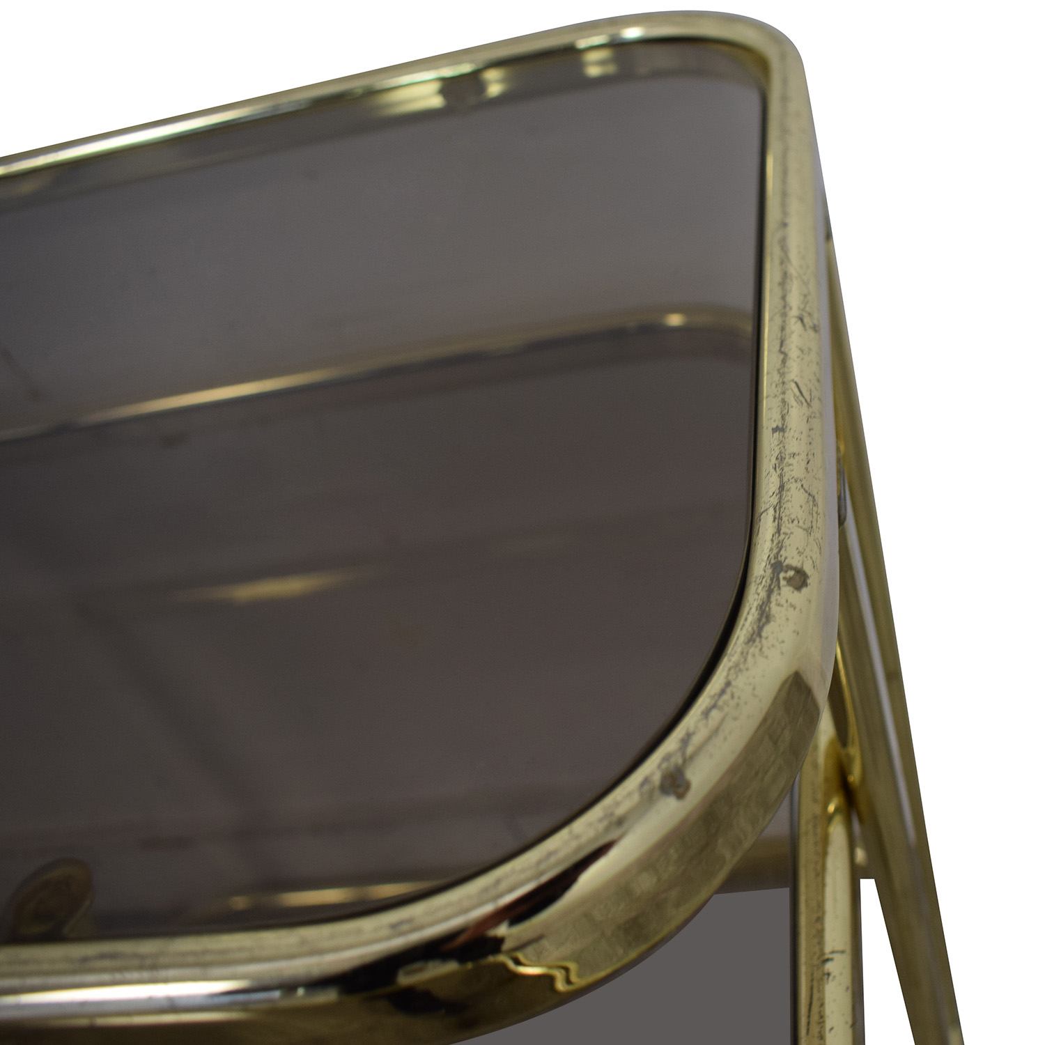 buy Glass & Gold Chrome End Table