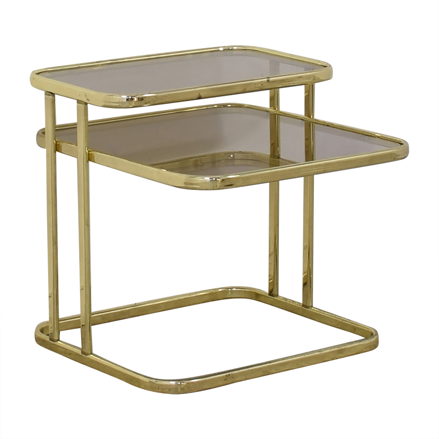 buy Glass & Gold Chrome End Table  Tables