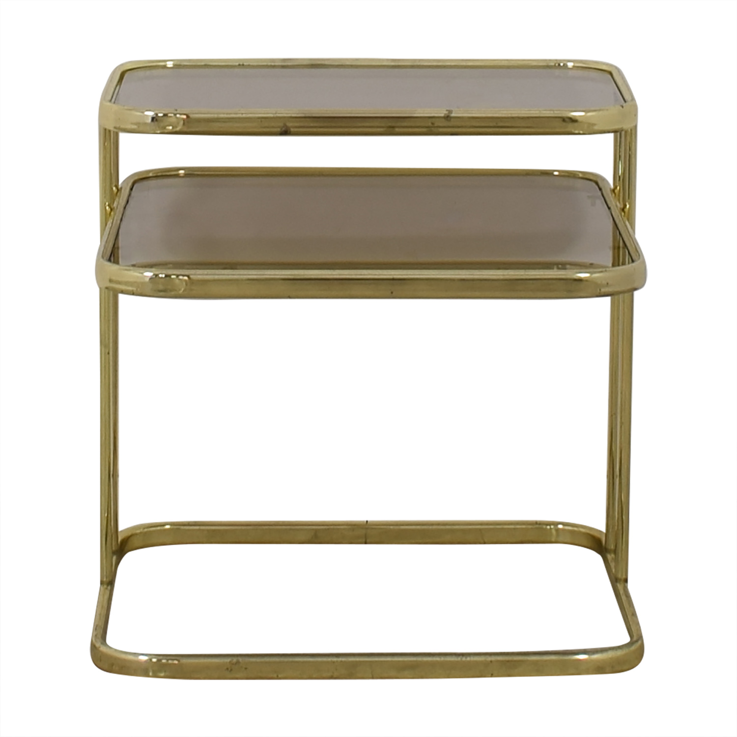 Glass & Gold Chrome End Table sale