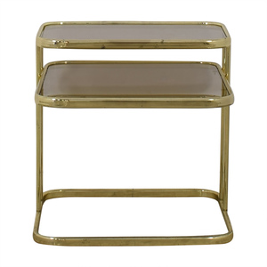 buy  Glass & Gold Chrome End Table online