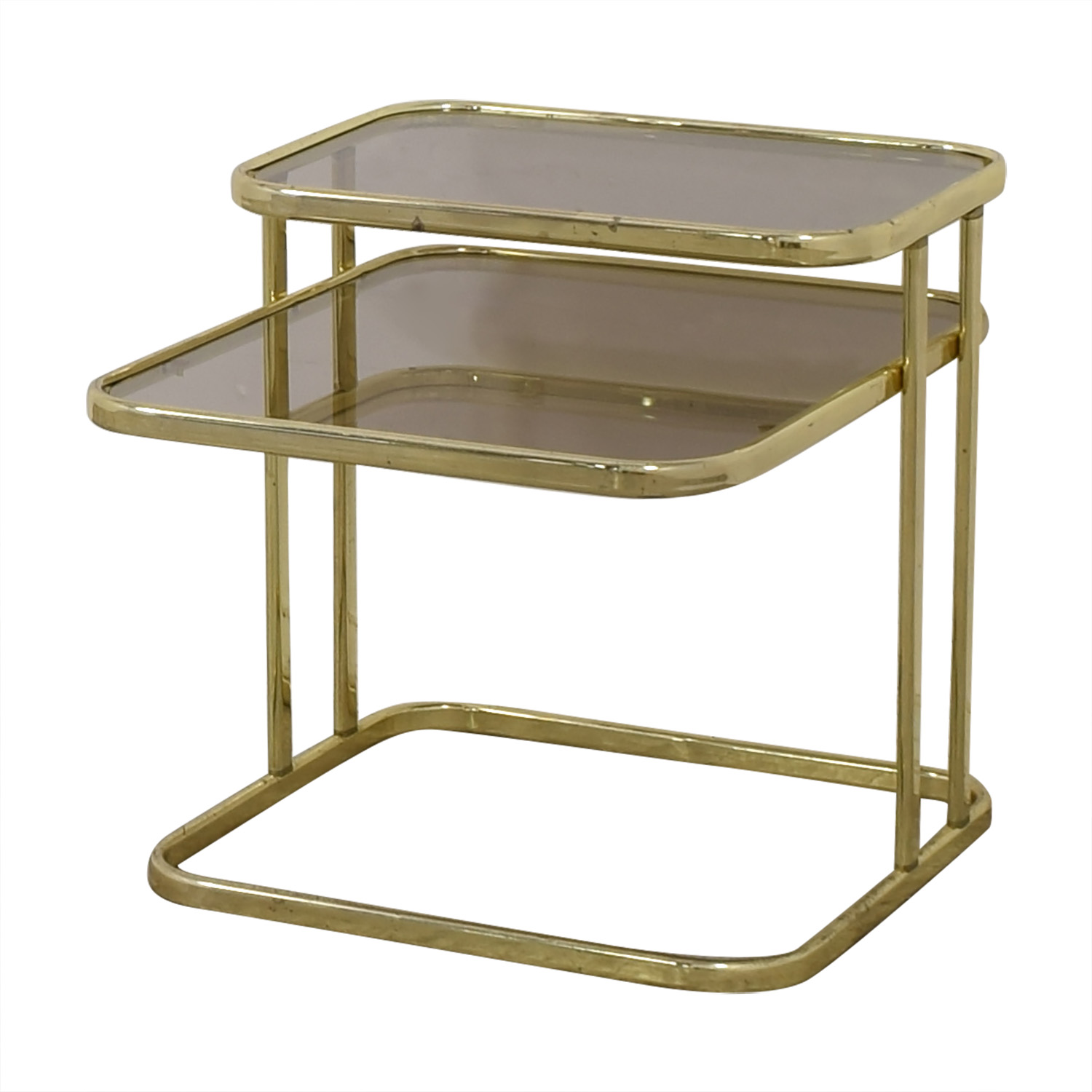 shop Glass & Gold Chrome End Table