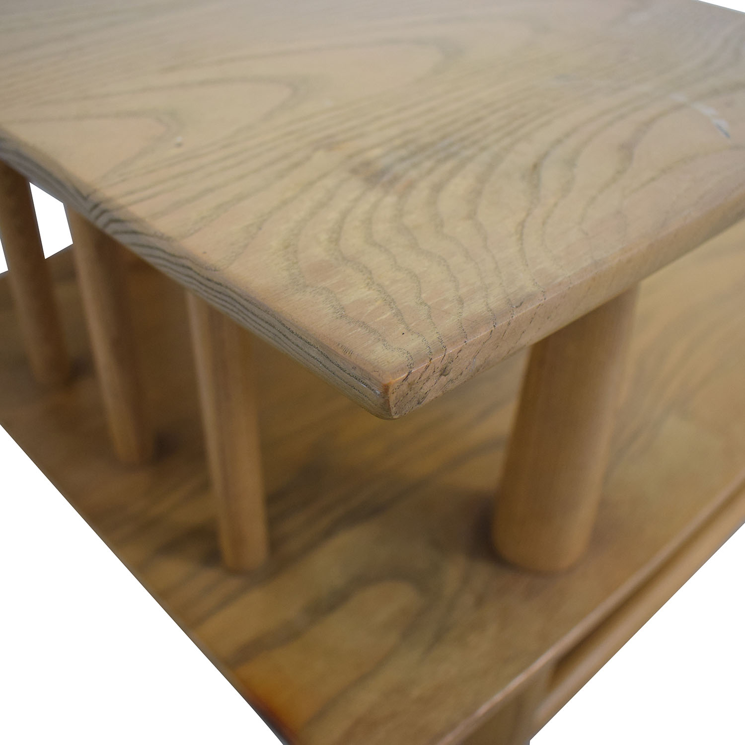 shop Natural Wood Two-Level Coffee table  Tables