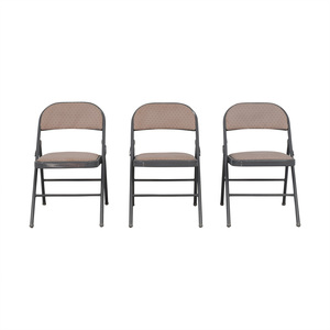 Vintage Upholstered Folding Chairs for sale