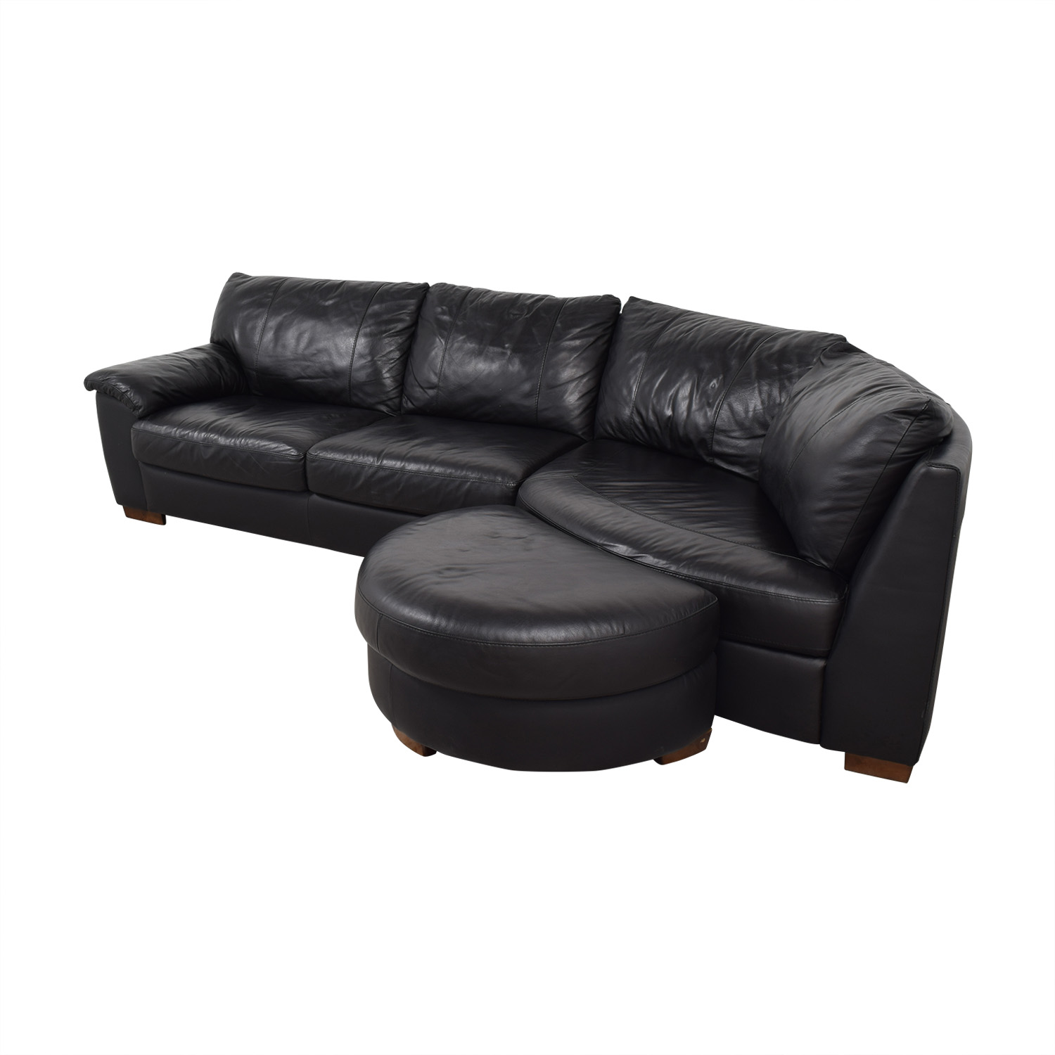 Sensational 78 Off Ikea Ikea Vreta Black Left Arm Corner Sofa With Ottoman Sofas Caraccident5 Cool Chair Designs And Ideas Caraccident5Info