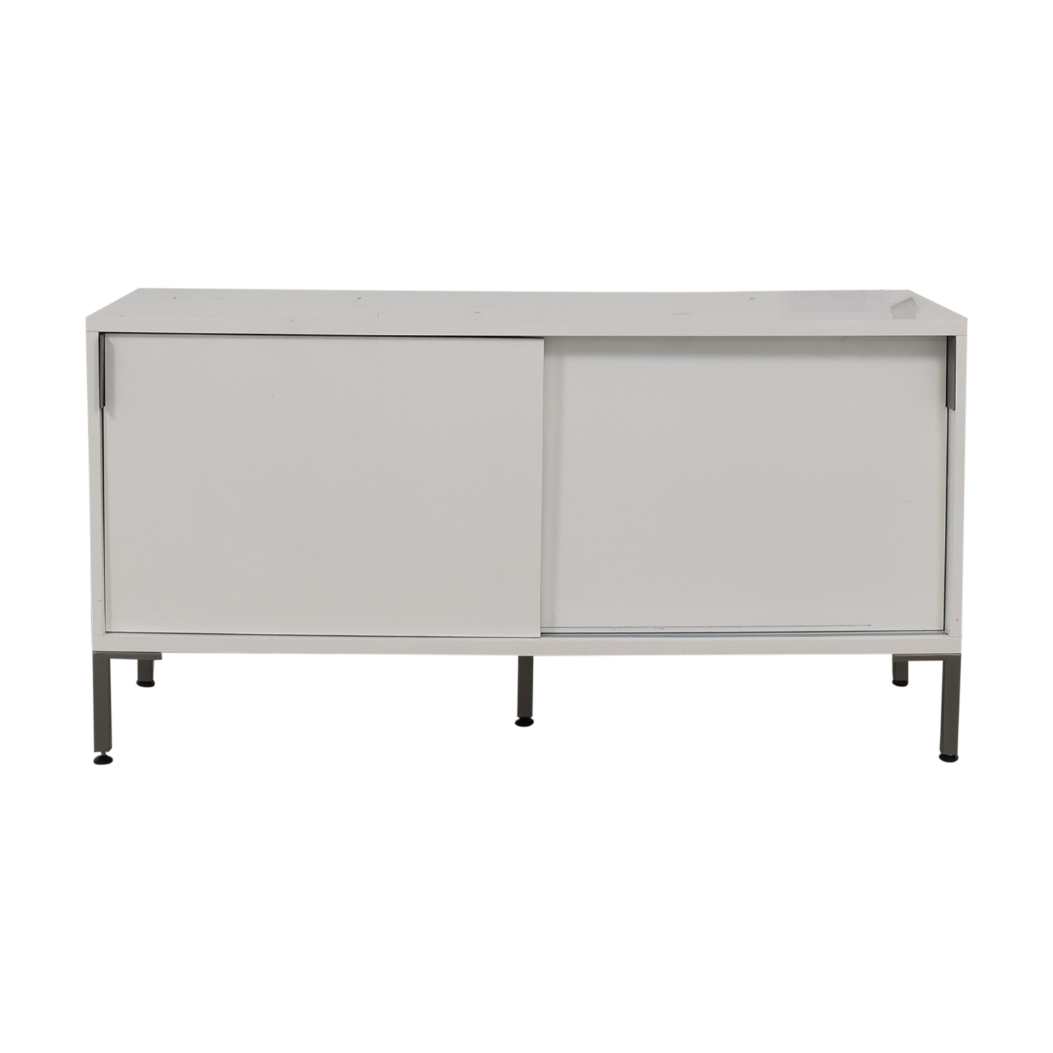 shop CB2 White Media Console CB2
