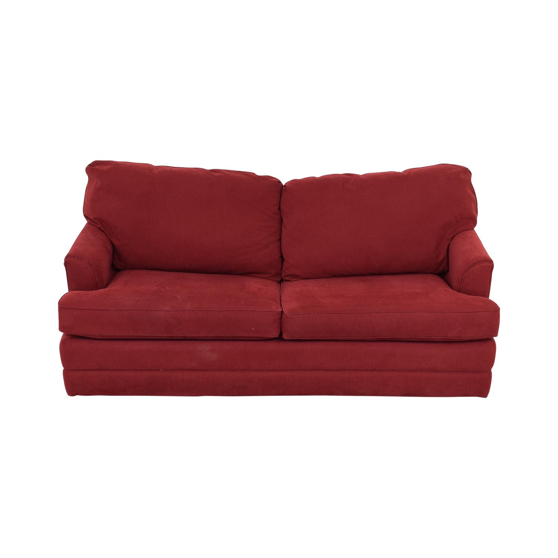 83% OFF - La-Z-Boy La-Z-Boy Red Convertible Queen Sleeper Sofa / Sofas