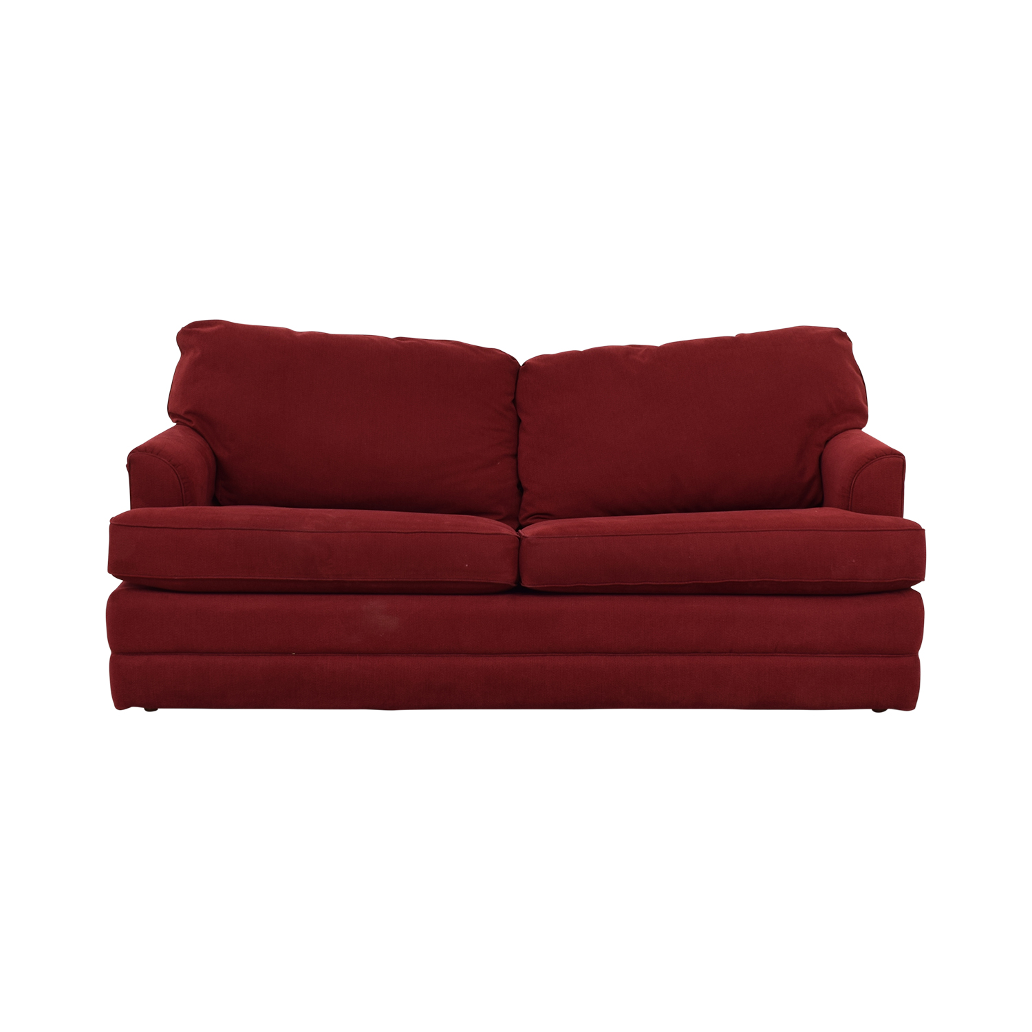 90% OFF - La-Z-Boy La-Z-Boy Red Convertible Queen Sleeper Sofa / Sofas