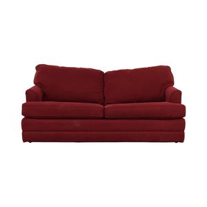 La-Z-Boy La-Z-Boy Red Convertible Queen Sleeper Sofa discount