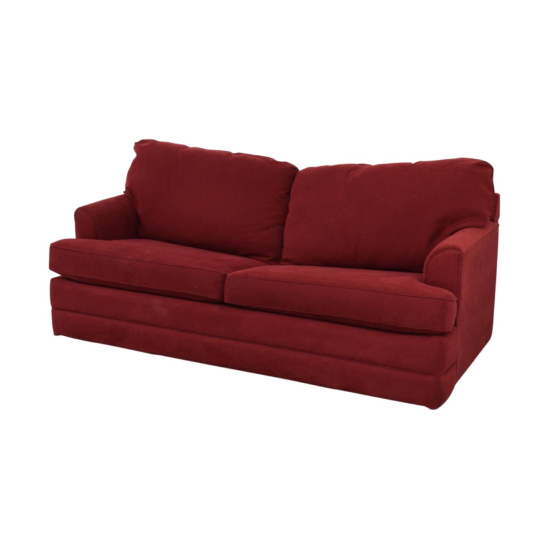 La-Z-Boy La-Z-Boy Red Convertible Queen Sleeper Sofa on sale