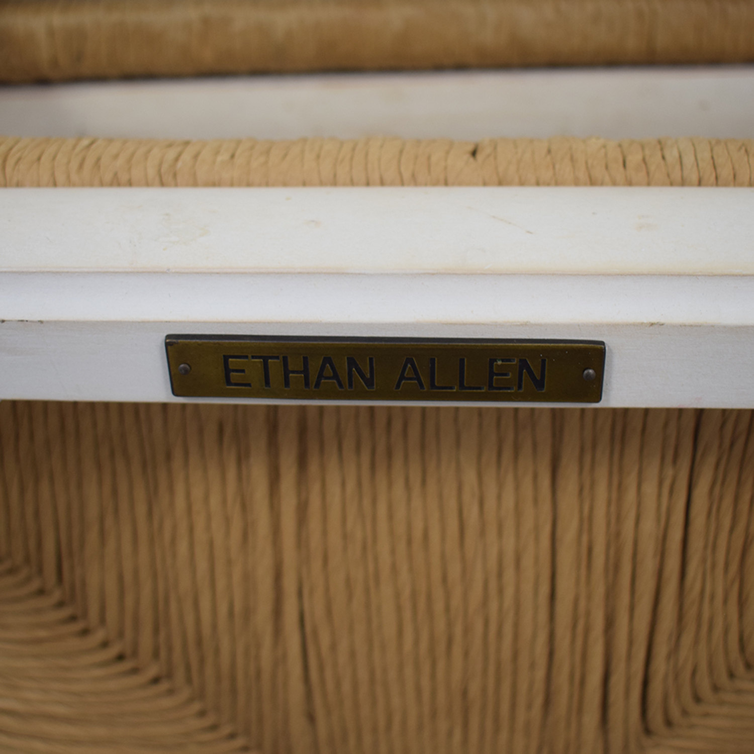 Ethan Allen Ethan Allen New Country Ladderback White Side Chairs second hand