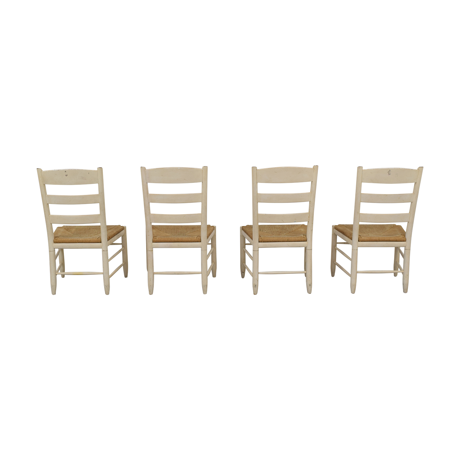 Ethan Allen Ethan Allen New Country Ladderback White Side Chairs White