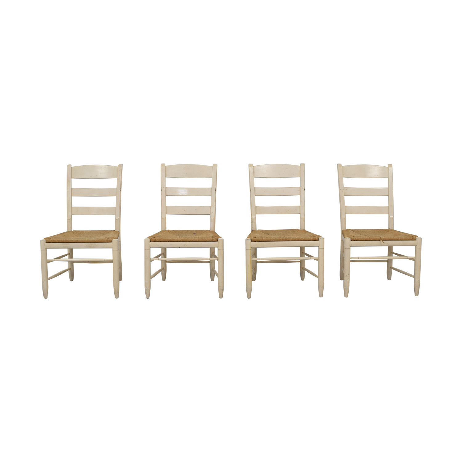 buy Ethan Allen New Country Ladderback White Side Chairs Ethan Allen