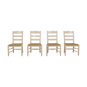 shop Ethan Allen New Country Ladderback White Side Chairs Ethan Allen