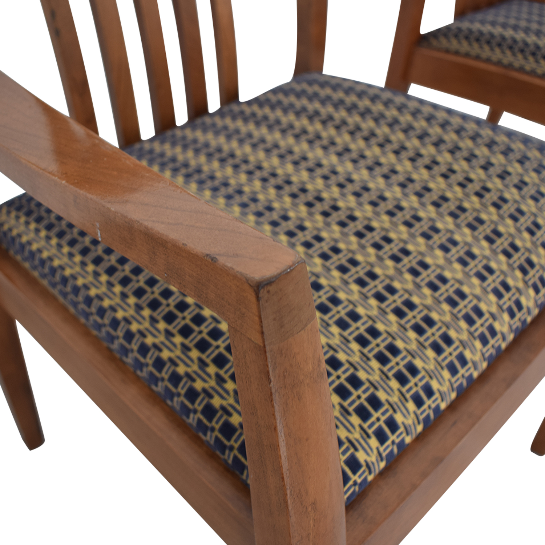 Gunlocke Company Gunlocke Company Upholstered Dining Chairs used