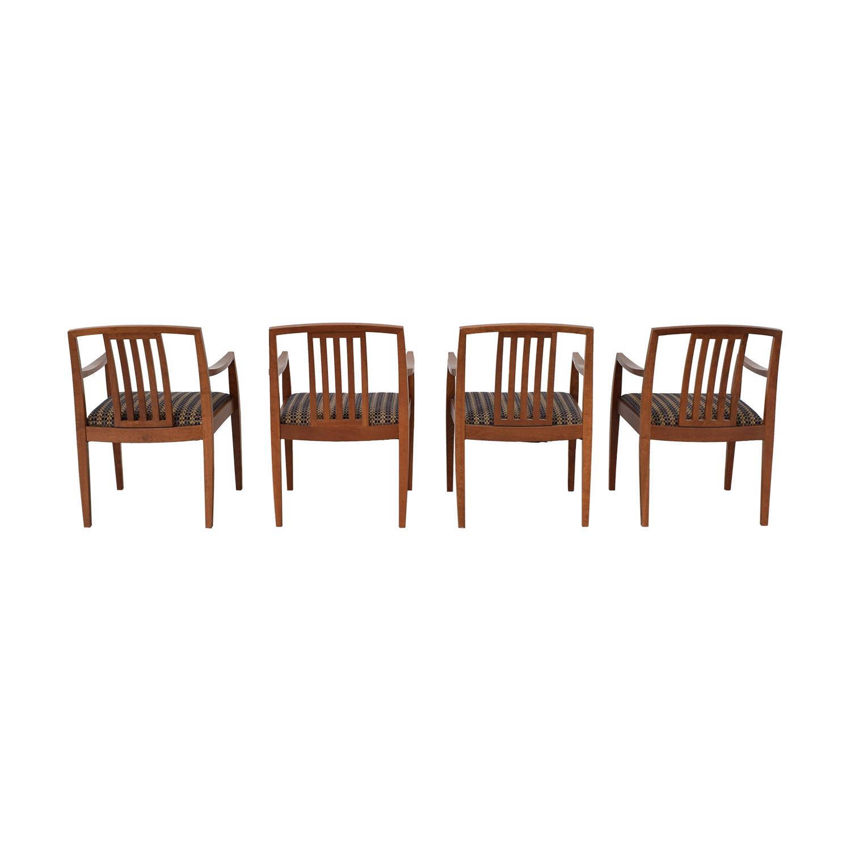 Gunlocke Company Gunlocke Company Upholstered Dining Chairs Dining Chairs