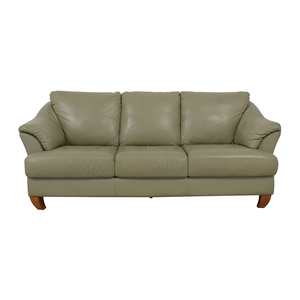 buy Natuzzi Mint Grey Three-Cushion Sofa Natuzzi Sofas