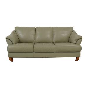 Natuzzi Natuzzi Mint Grey Three-Cushion Sofa coupon