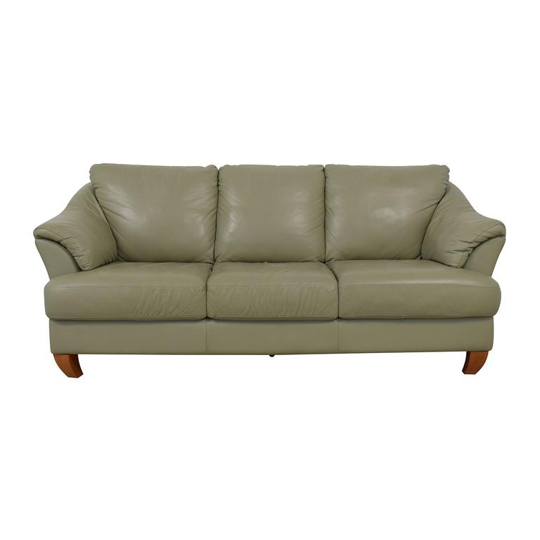 buy Natuzzi Mint Grey Three-Cushion Sofa Natuzzi Sofas