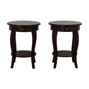 Round Wood End Tables on sale