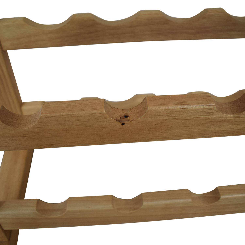 shop Natural Wood Wine Rack  Storage