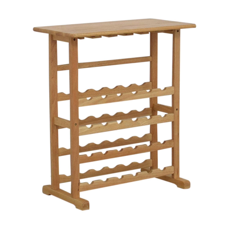 Natural Wood Wine Rack on sale
