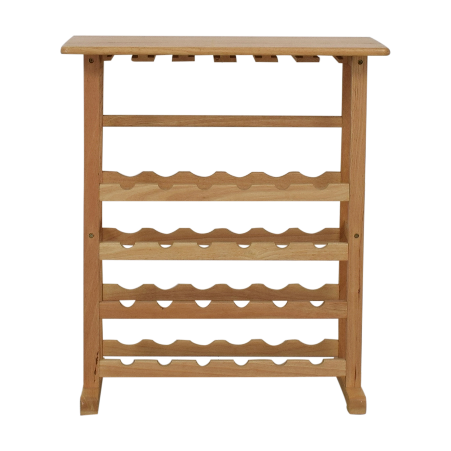 Natural Wood Wine Rack for sale