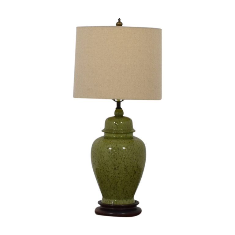 Green Ceramic Table Lamp on sale