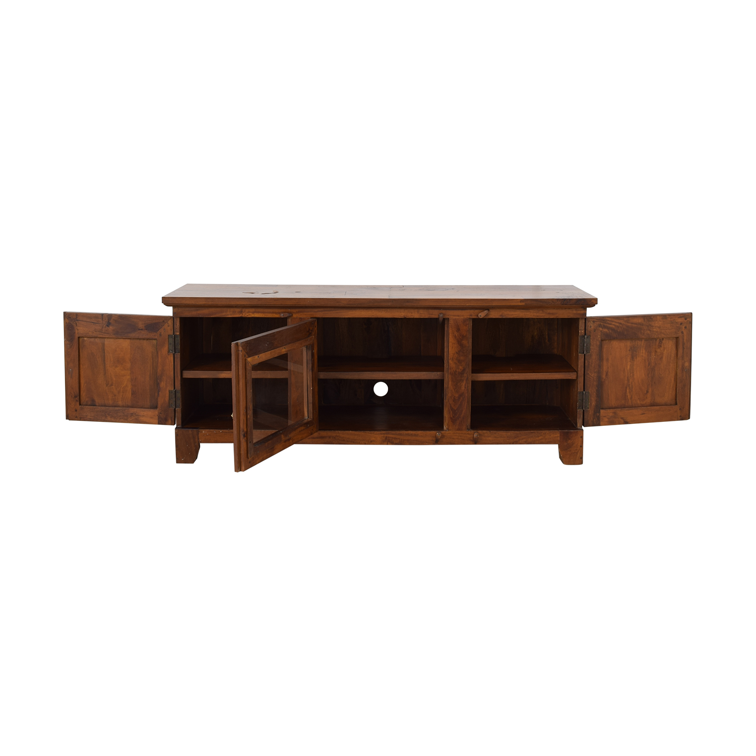 Custom Amish Finland Media Console with Three Doors second hand