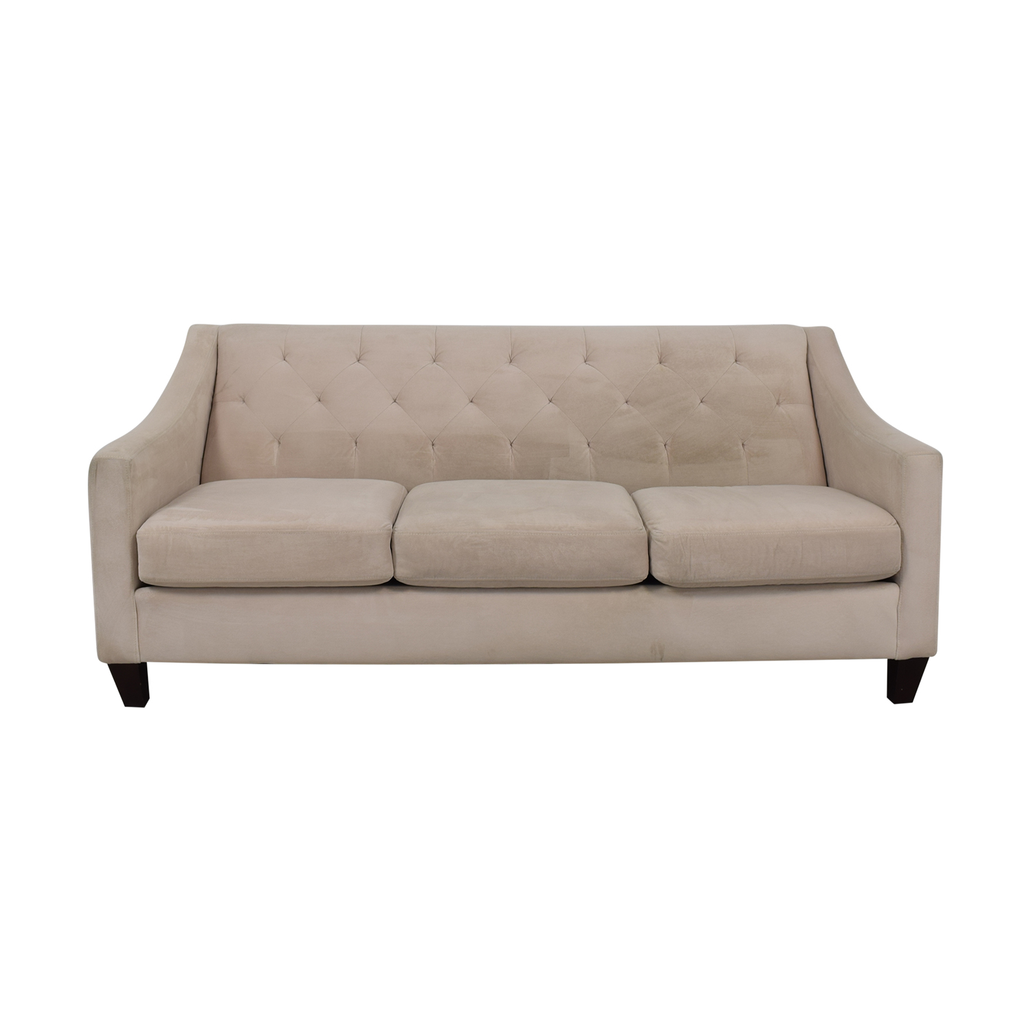 Max Home Furniture Max Home Furniture Tufted Suede Three-Cushion Sofa nyc