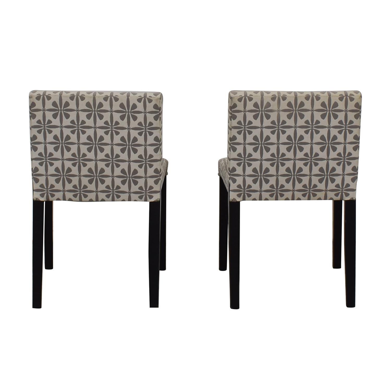 90% OFF   Macyu0027s Macyu0027s Patterned Fabric Dining Chairs / Chairs