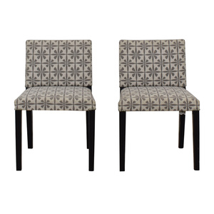 Macy's Macy's Patterned Fabric Dining Chairs