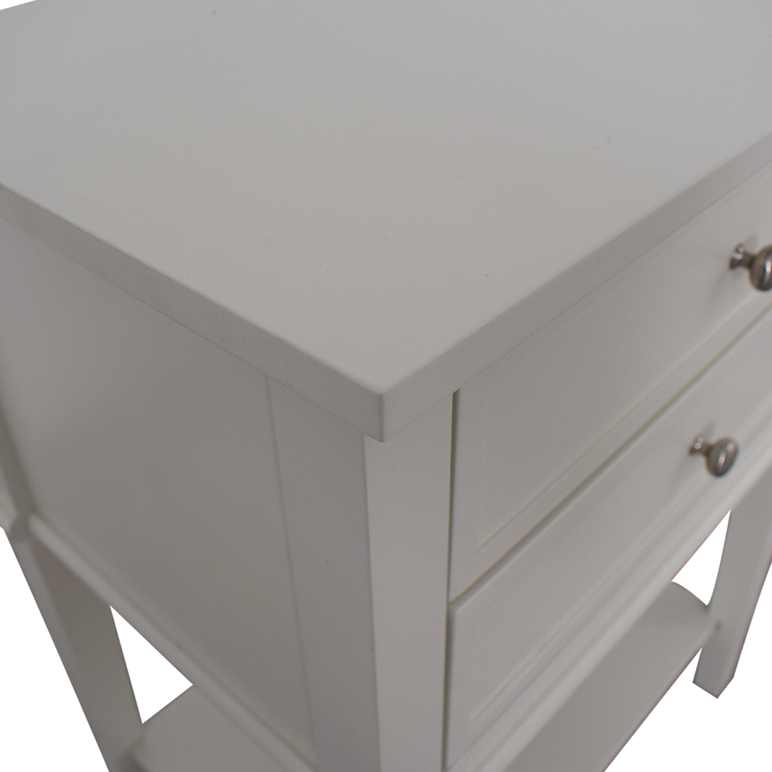 Copper Grove Kurdica White Two-Drawer Accent Table / End Tables