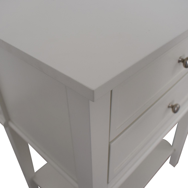 Copper Grove Copper Grove Kurdica White Two-Drawer Accent Table price