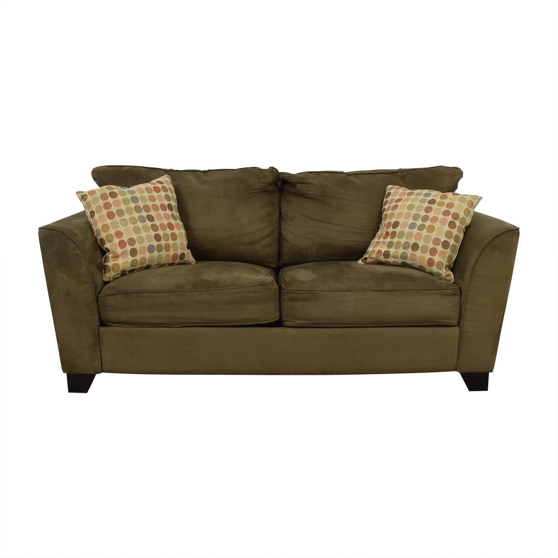 shop Taft Furniture Modern Green Sofa