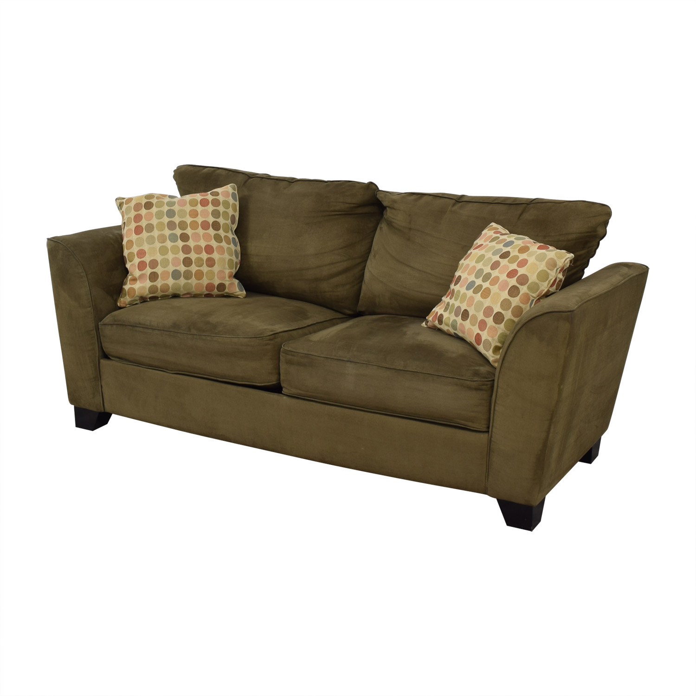 76% OFF - Taft Furniture Modern Green Sofa / Sofas