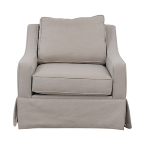 Havertys Havertys Madeleine Grey Accent Chair discount